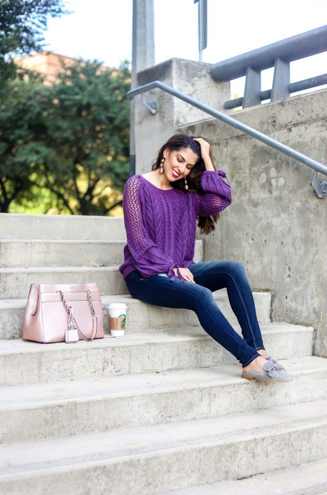 Purple Pullover Sweater