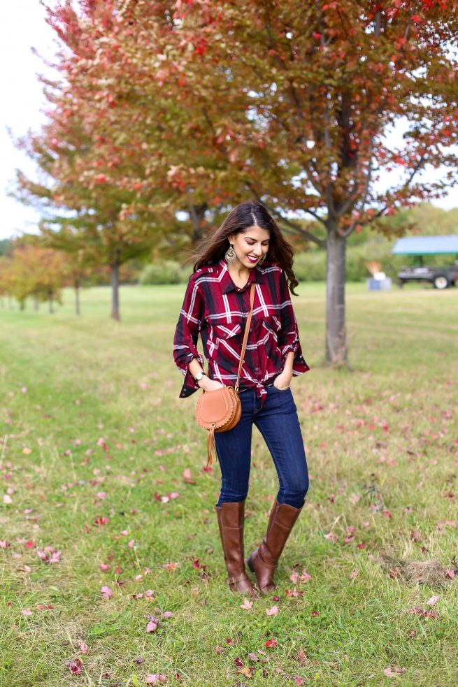 Plaid Shirt for Fall and Denim Style