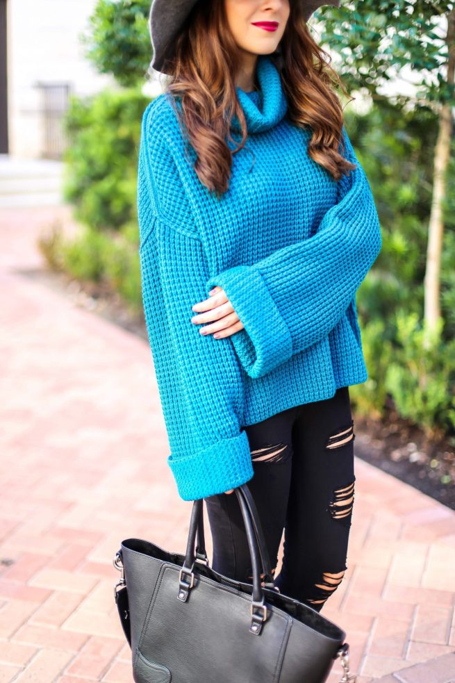 Turquoise Sweater for Fall