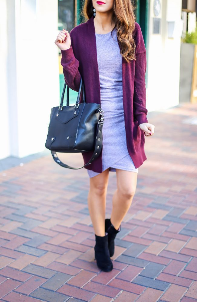 Body Con Dress with a Cardigan for Fall