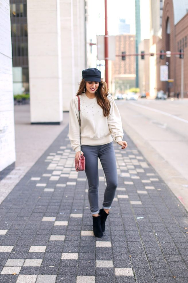 Sweatshirt and Denim Style