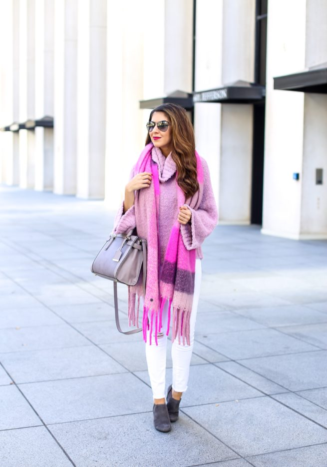 Pink Sweater and Pink Scarf