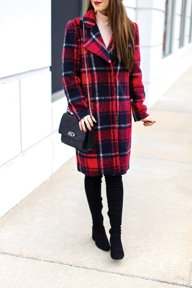 Beautiful Crimson Plaid Coat