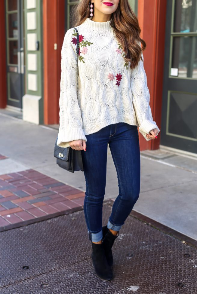 Beautiful Embroidered Knit Sweater