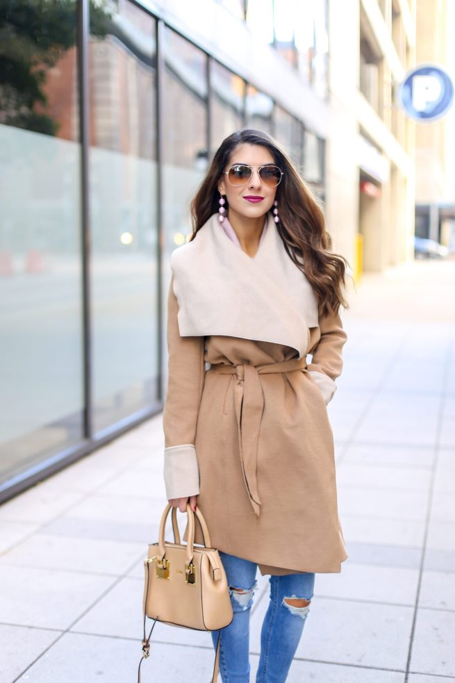Best Camel Wrap Coat