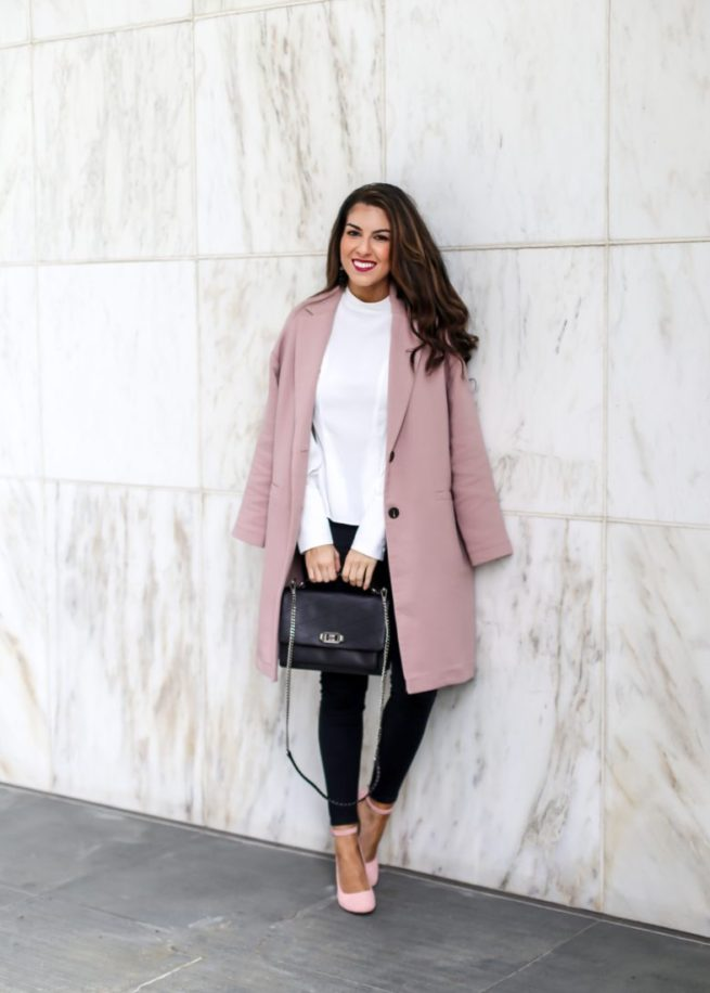 Classic Pink Coat Style