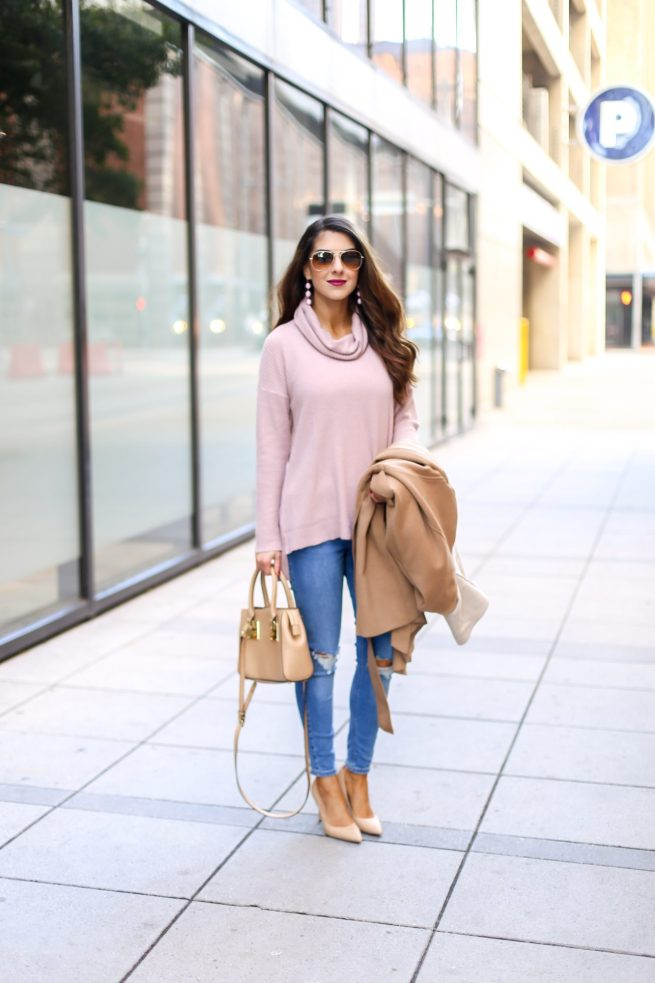 Pink Tunic with Denim Style