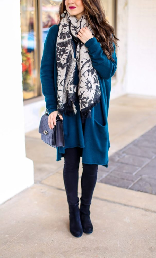 Cozy Cardigan and Scarf for Winter Fashion