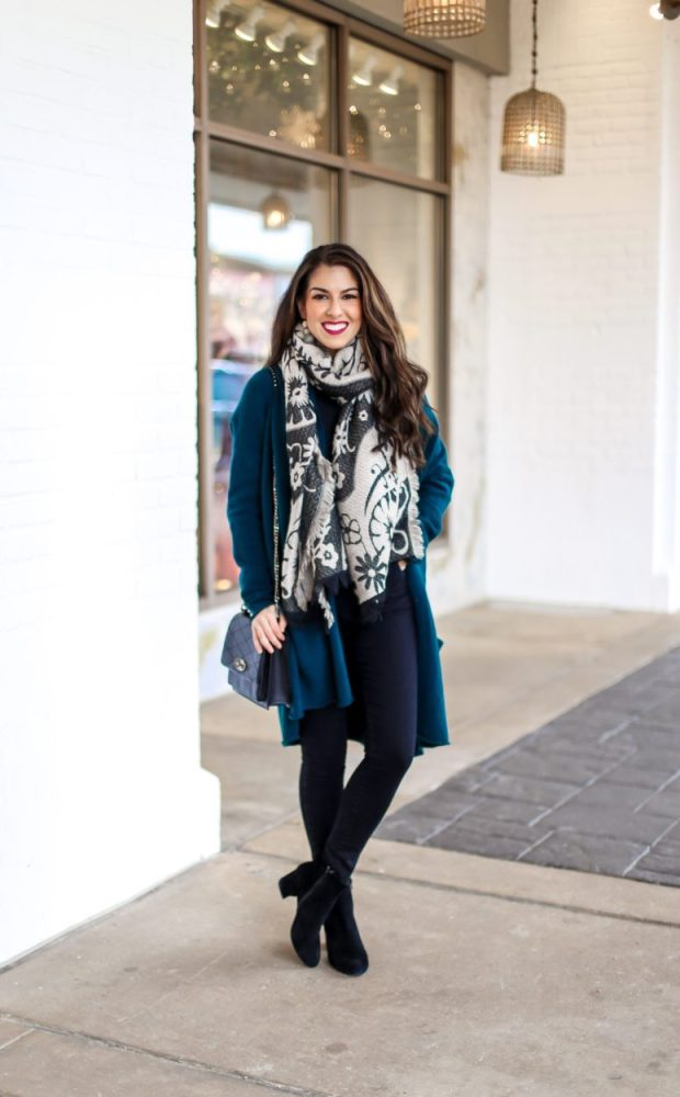 Teal Cardigan and Jean Style