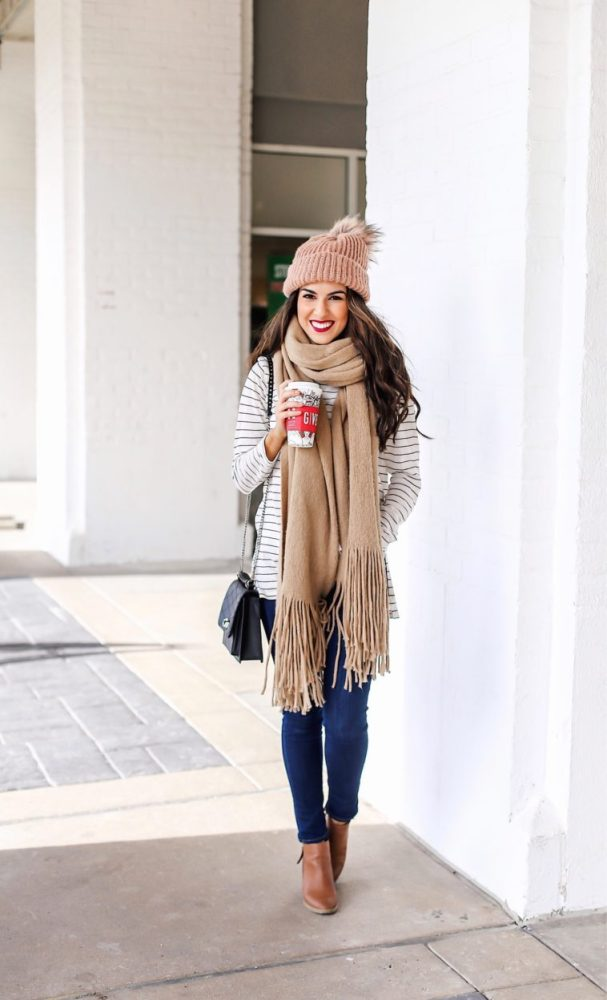 Cozy Scarf and Denim Style