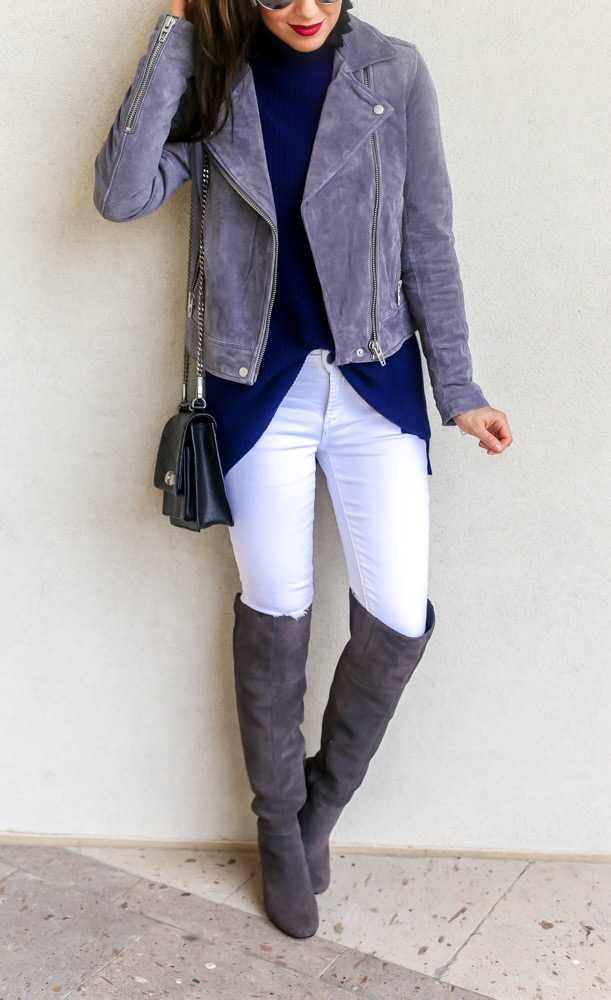 Layered Turtleneck Sweater and Denim Style
