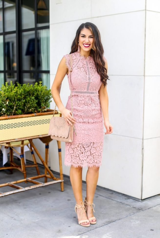 Pink Lace Dress for Spring Season