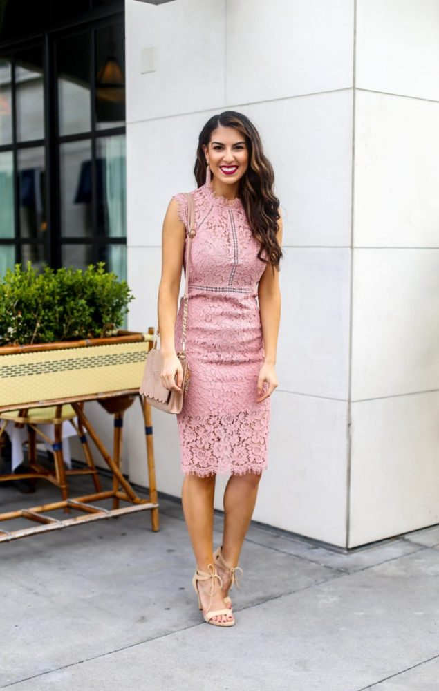 Pink Lace Dress for Spring