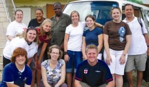 Joe Lynch (far right) and Joy Mikles (front center) led a team to Mandeville, Jamaica, in October 2006.