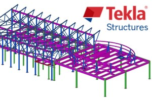 BIM Model created with Tekla Structures