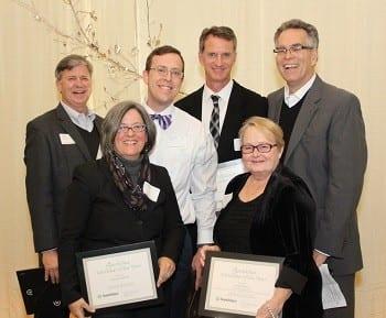 Sustainable Atlanta Roundtable Steering Committee members Kerry Blind, Suzanne Burnes, Michael Halicki, Dan Reuter and Jackie Benson accept the 2014 Volunteer of the Year Award.