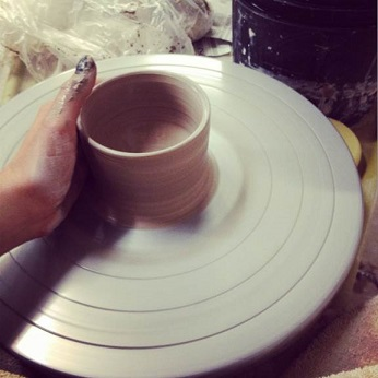 Bonnie enjoys making pottery in her spare time. Here is the beginnings of one of her creations.