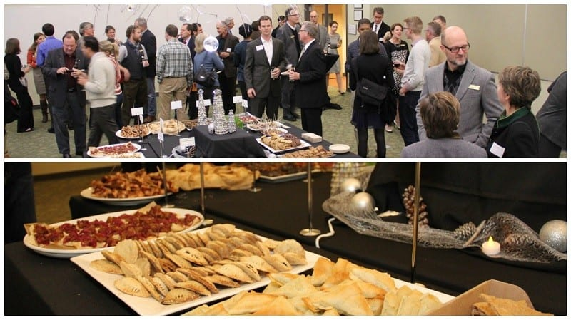 Food and friends at the last year's celebration.