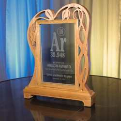 Argon award, crafted by Peter Clemens, glass by American Insulated Glass.