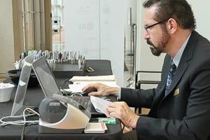 Dennis palko at registration
