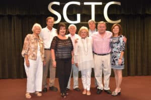 Jan Hobgood (third from left) is shown above with her husband Darryl (second from left) and family members at the retirement reception held in her honor at South Georgia Technical College recently.