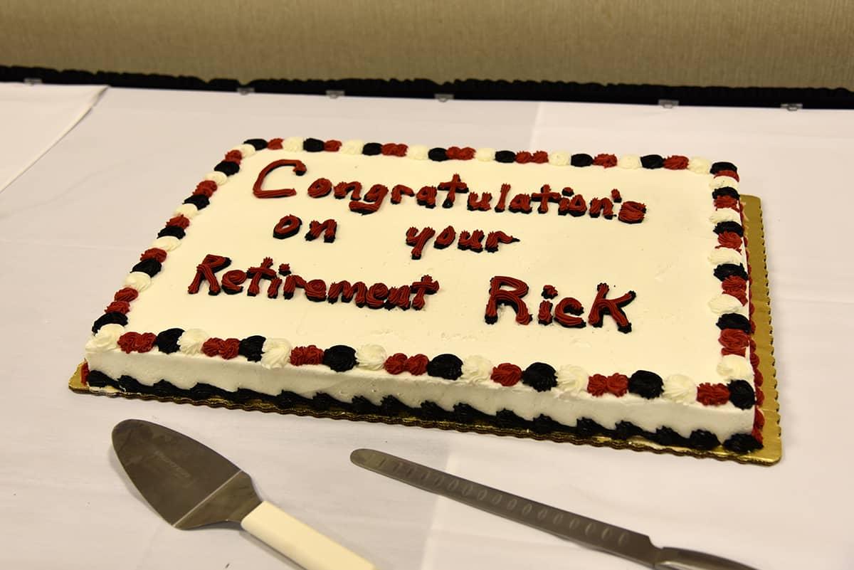 Rick Davis retirement cake.