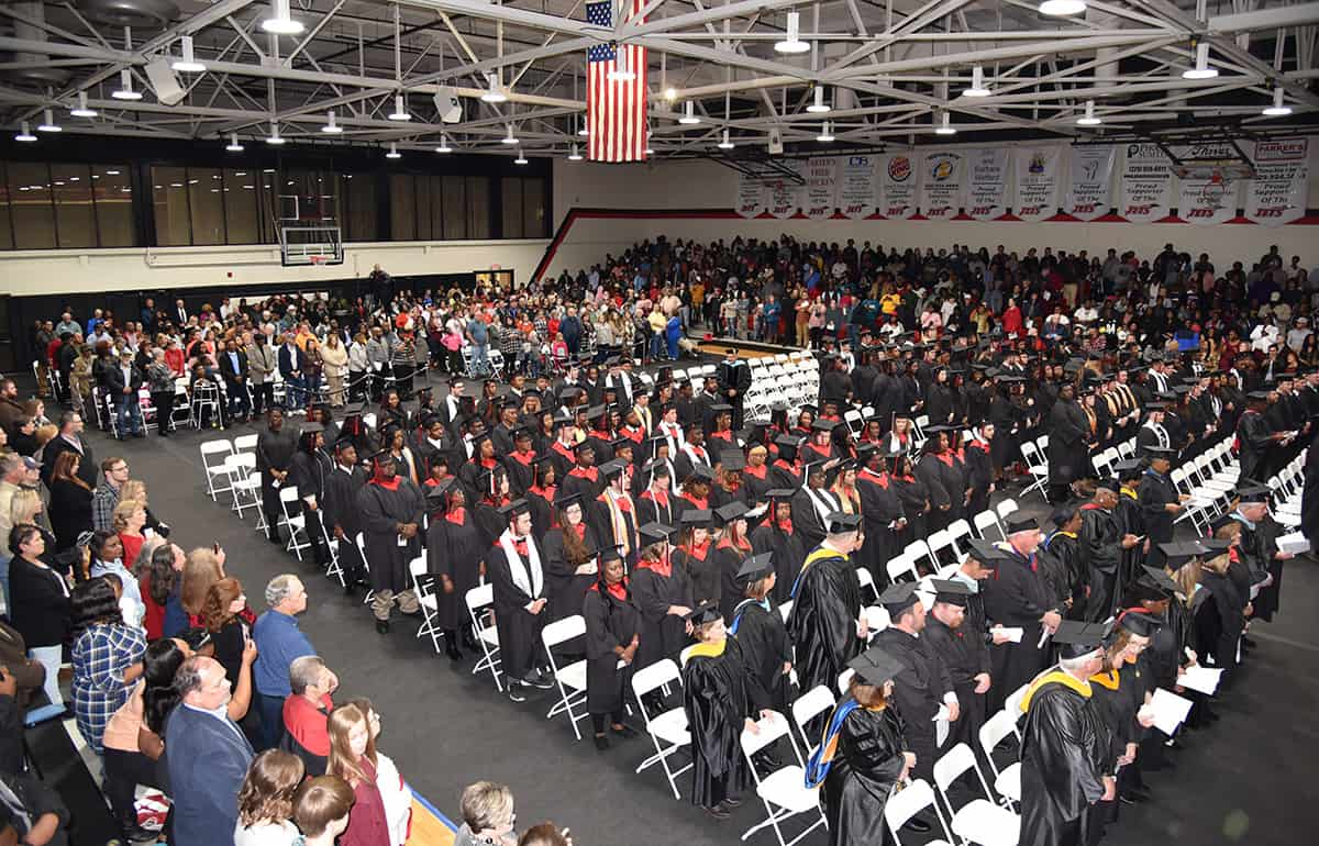A large crowd attended the SGTC Fall 2018 graduation ceremony recently in the James S. Peters gymnasium.