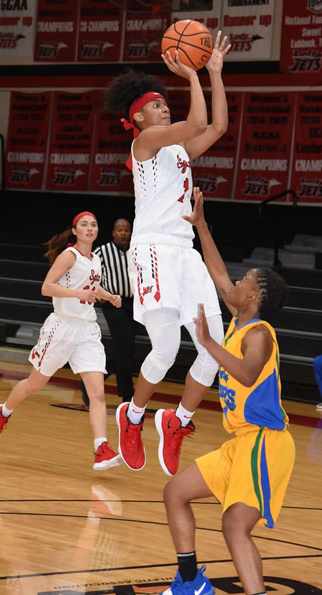 Ricka Jackson, 1, came up with 14 points against Southern Crescent.