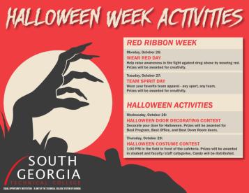 Schedule of SGTC Activities for Red Ribbon Week/Halloween