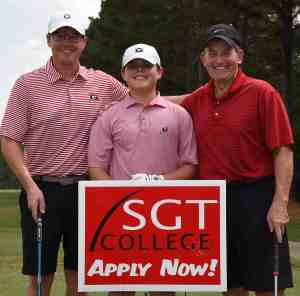 SGTC President Emeritus Sparky Reeves (right) is shown above with his son, Kevin, and grandson, Will, at the 2019 Sparky Reeves Classic Golf Tournament.