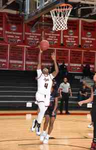 Sophomore guard Veronica Charles (4) led the Lady Jets in scoring against New Horizon Prep with 19 points, seven rebounds, four assists, and five steals.