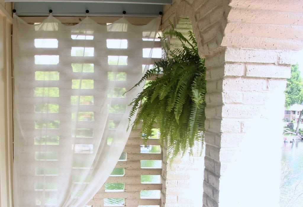 how to hang outdoor sheer curtains