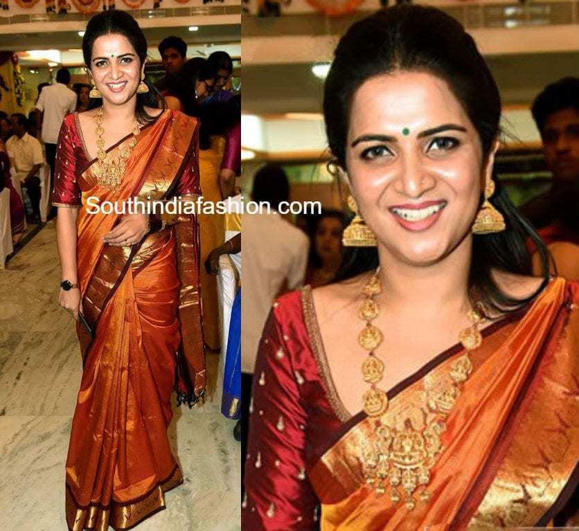 Divyadharshini In A Traditional Saree South India Fashion