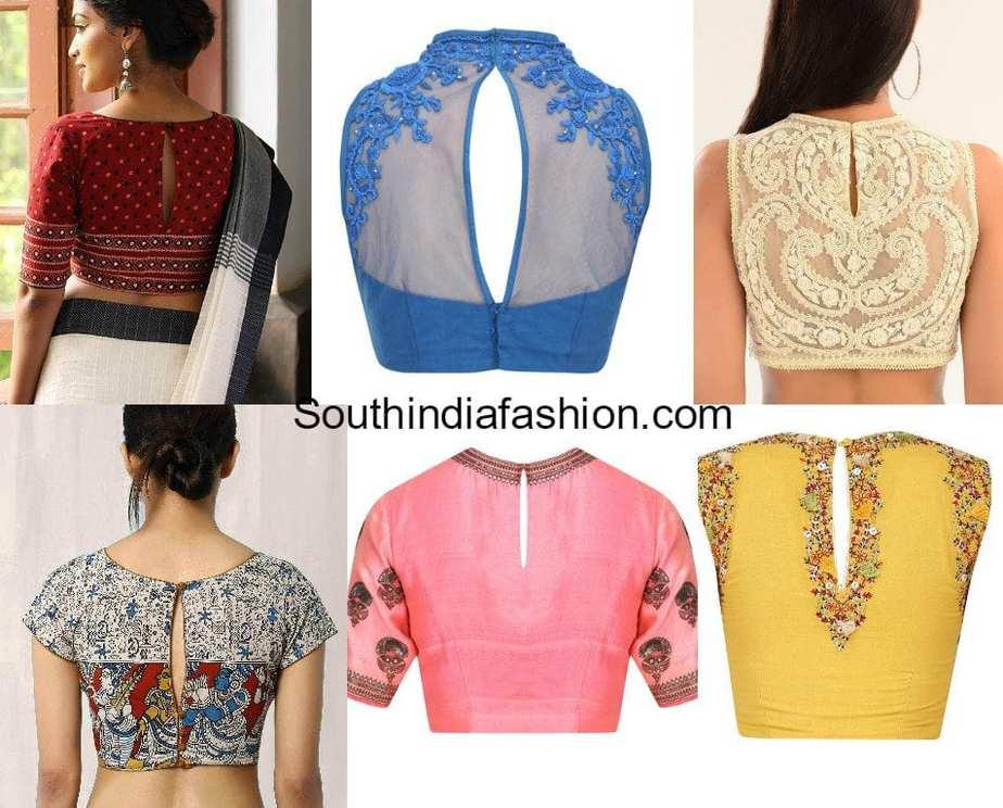 slit back neck blouse designs for sarees Blouse Gala Design