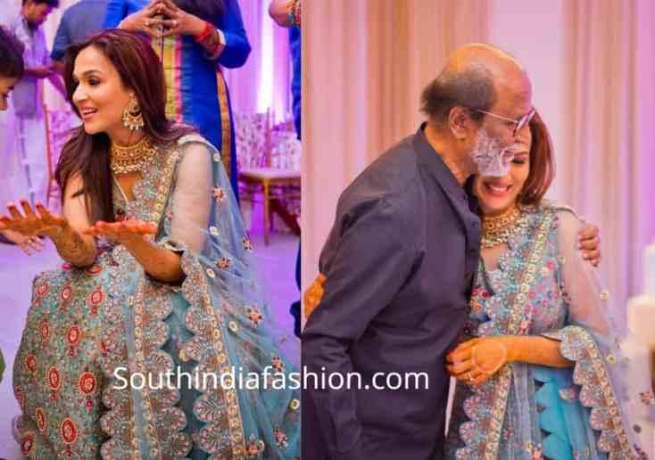 Soundarya Rajinikanth's Mehendi Look! – South India Fashion