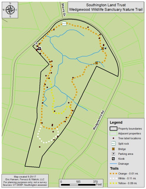 Wedgewood Wildlife Sanctuary Trails Map