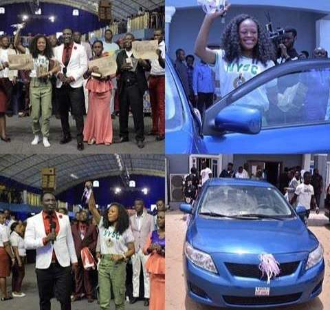 Lady Who recorded 'Miss Success' Viral Video Gets A Car And More Money From Prophet Jeremiah Omoto