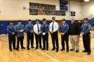 Officer Mark DiBernardinis is pictured with members of the Bellmawr Police Department