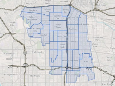 South Los Angeles Map-LATimes