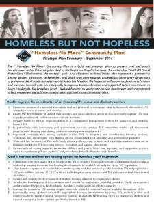 Homeless No More Slide 1