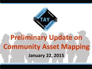 Preliminary Asset Mapping Results  January 2015