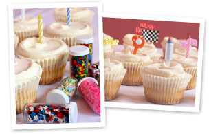 Decorated gourmet cupcakes for birthdays and other events