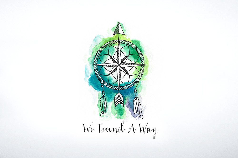 Watercolor Logo design for blog, We Found A Way | by South Ranch Creative