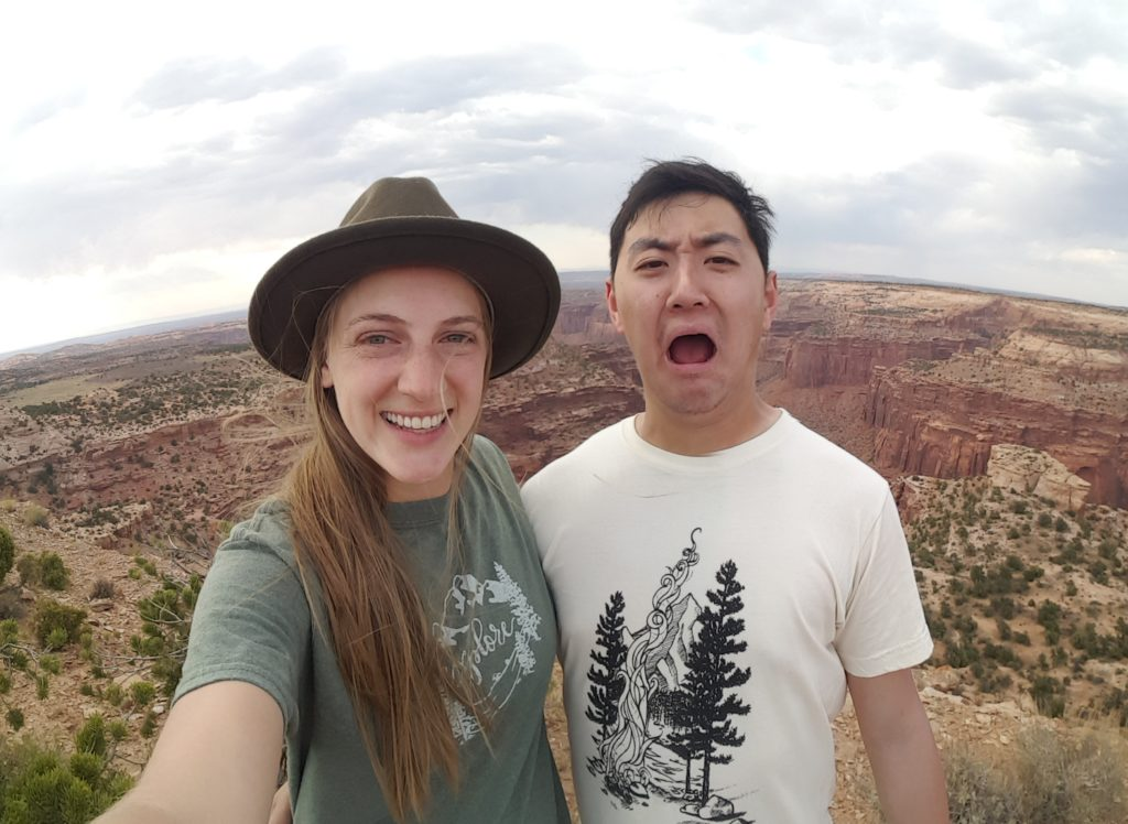 Becca and Winston at Canyonlands National Park in Utah