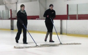 sweeping the ice