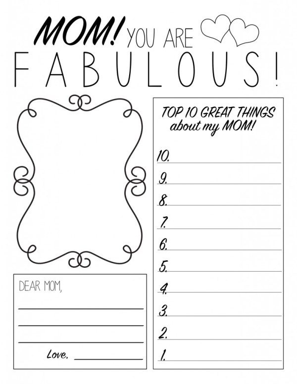 Printable Mother's Day Sheets for Kids – South Shore Mamas