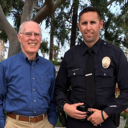 Bob Genest and Officer Rubright