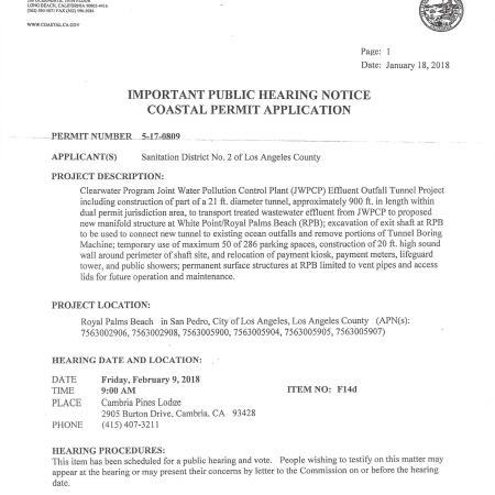 coastal permit hearing notice