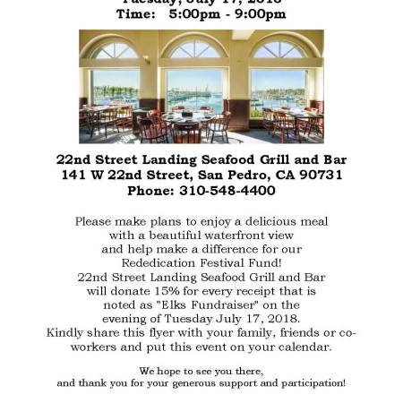 fundraiser flyer elks lodge san pedro