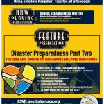 UPDATE: Annual Residents' Meeting & Disaster Preparedness Workshop Canceled